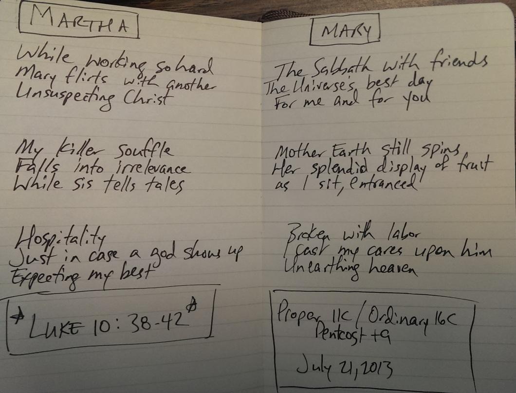 Three Haikus on Mary and Martha